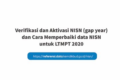 Cara Aktivasi NISN Gapyear dan Memperbaiki Data NISN Siswa Salah untuk LTMPT 2020