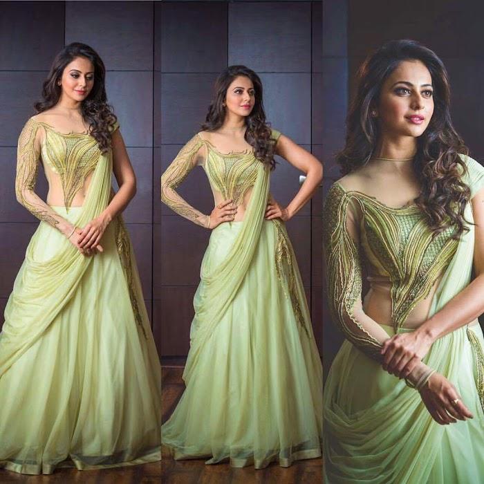 Rakul Preet Singh Beautiful HD Saree Pictures-Top 50 Collections in Saree