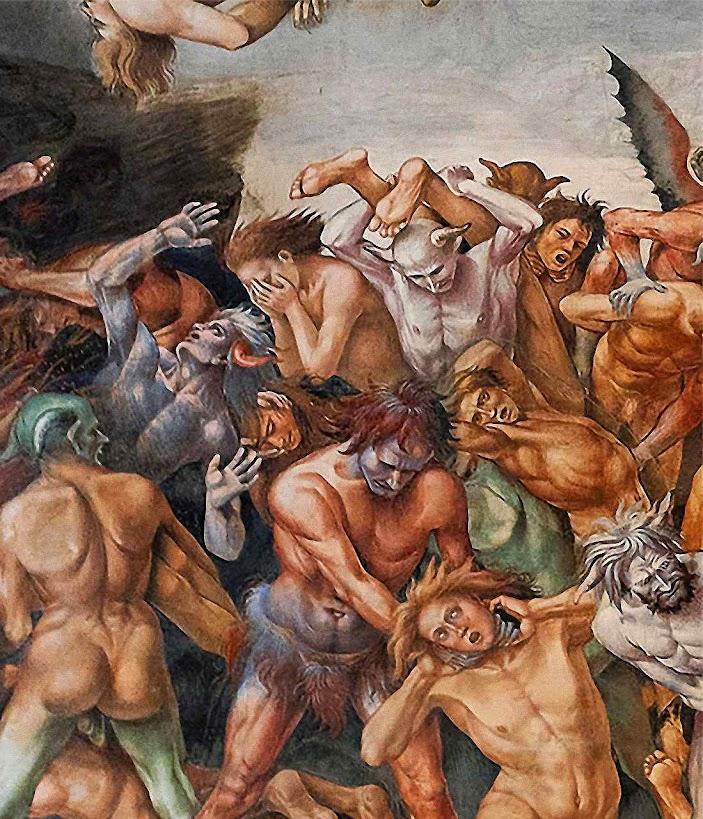 Em 1864 os demonios sairfiam do inferno para se apossarf do mundo e da Igreja. Luca Signorelli (1445 - 1523) Orvieto