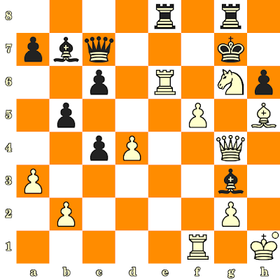 Les Blancs jouent et matent en 3 coups - Bruce Amos vs Pedro Garcia Toledo, Skopje, 1972