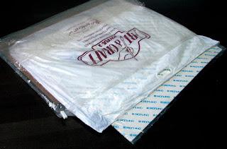 大きな布団圧縮袋に入れた水彩紙
