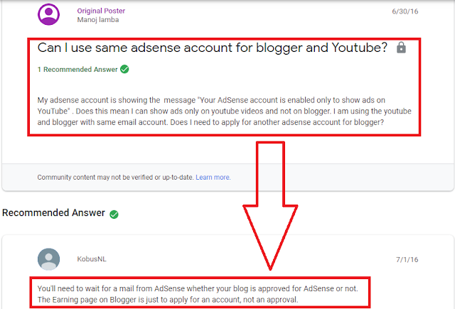 Q/A terkait massalah Adsense Blog