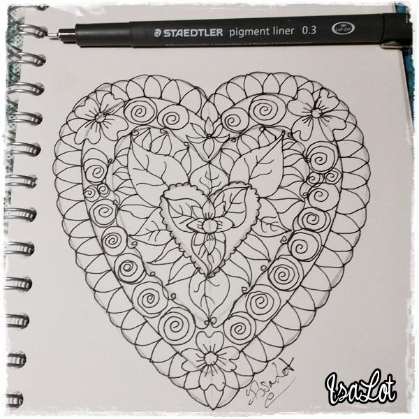 IsaLot Scrapbooking: Cómo dibujar mandalas con forma de corazón para ...