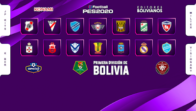 eFootball PES 2020 PS4 Option File Liga Boliviana