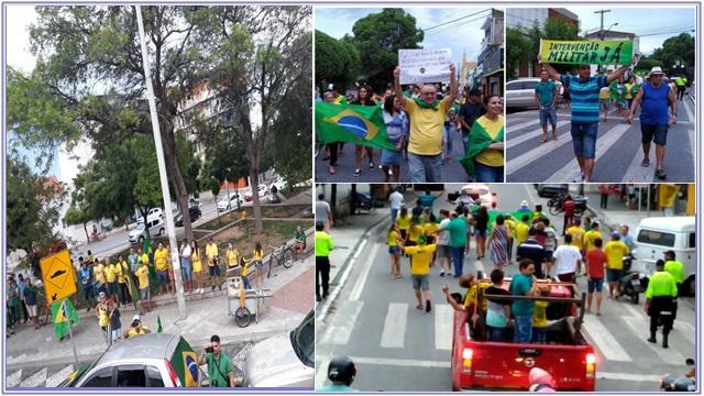 Movimento Direita Patos realiza manifestação pró-Bolsonaro em Patos - FOTOS