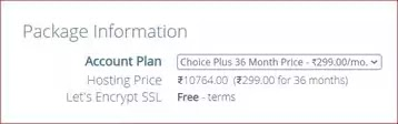 choice pluse plan of bluehost