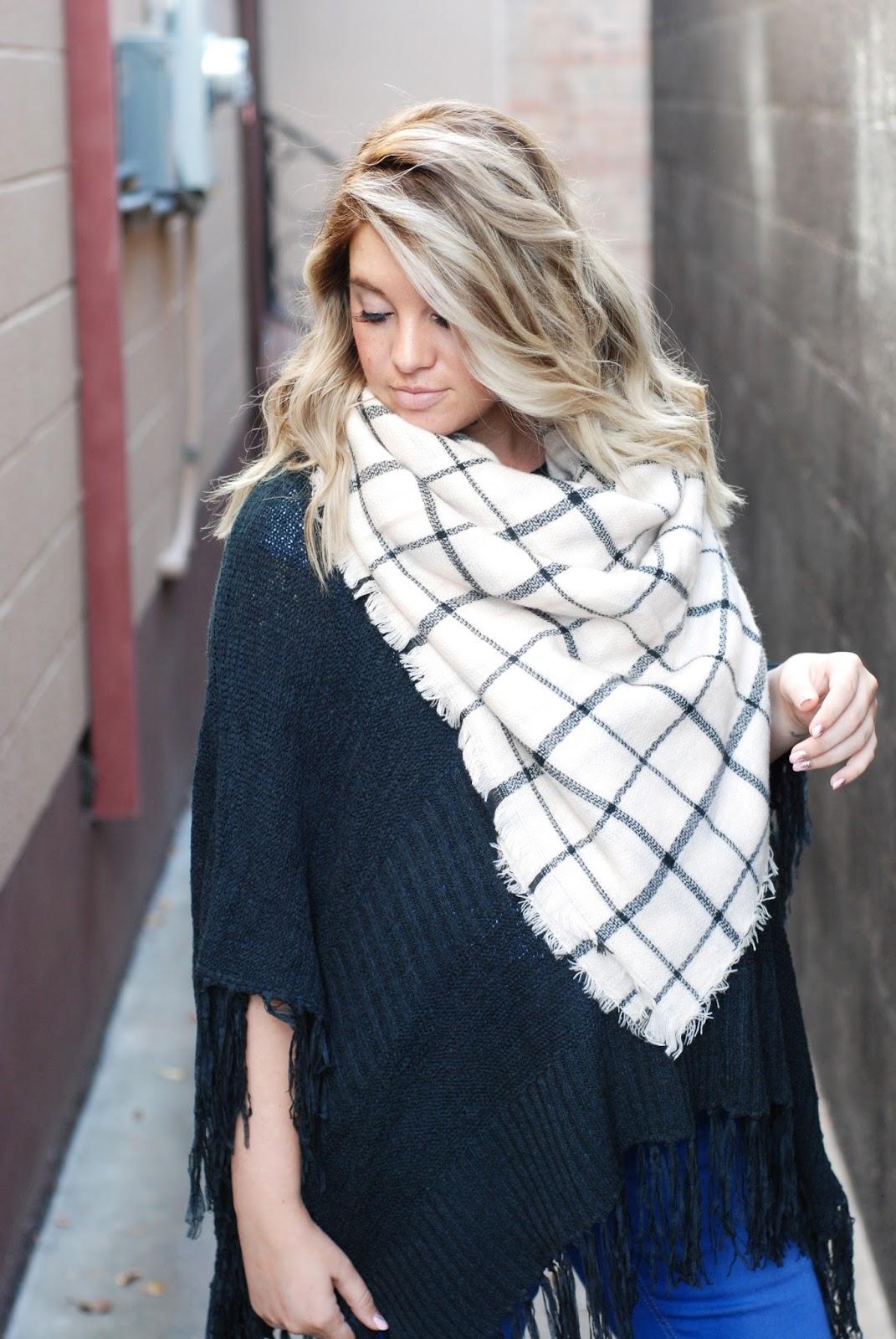 Blanket Scarf, Poncho, BB Styled