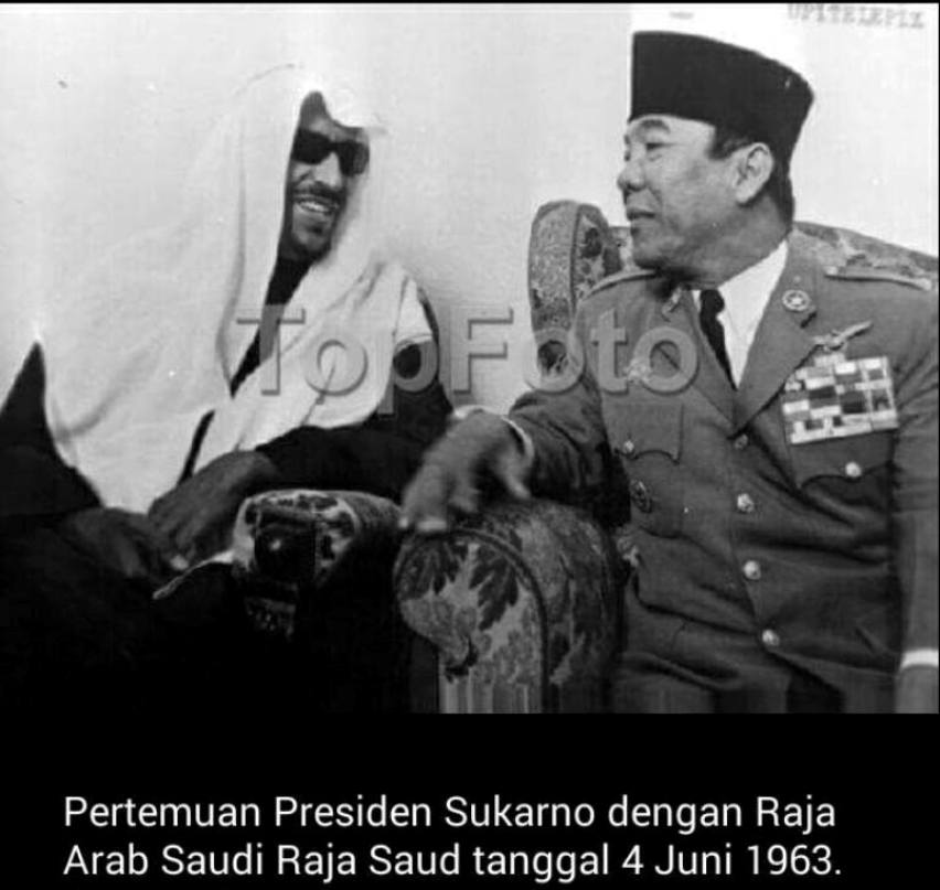 Image result for ir soekarno dan arab saudi