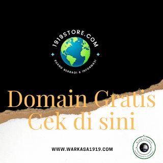 Domain Gratis, Cek di sini!