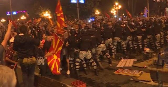 Proteste in Mazedonien nach Zaev-Tsipras Deal