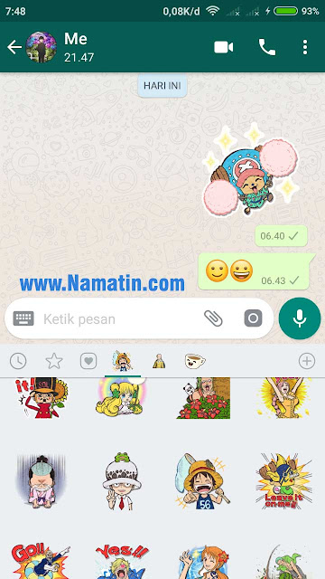 Stiker WA One Piece Terbaru