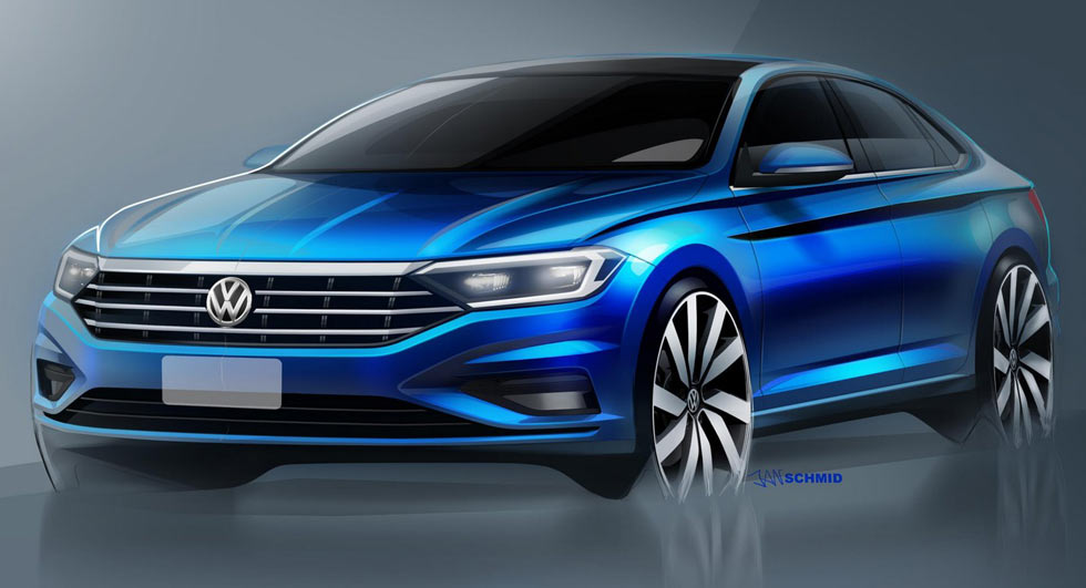 VW Jetta sketches leave nothing to imagination