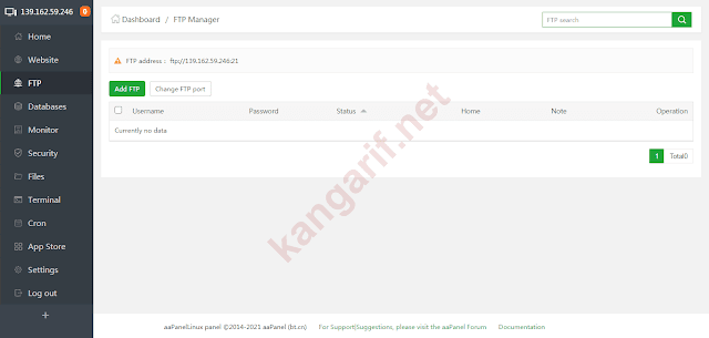 ftp manager aapanel