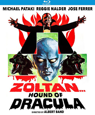 Blu-ray cover art for Kino Lorber's Special Edition of ZOLTAN: HOUND OF DRACULA!