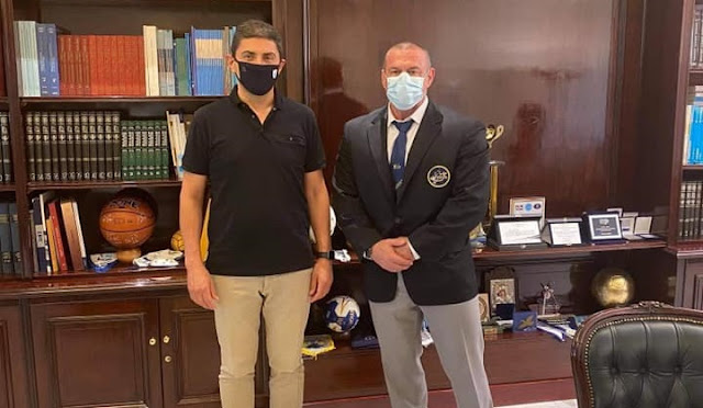Συνάντηση του Τάσου Κολιγκιώνη με τον Υφυπουργό Αθλητισμού