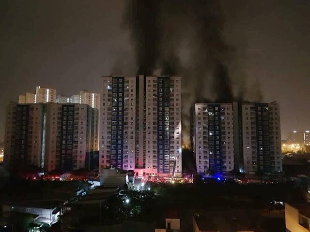 cháy chung cư carina