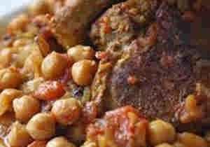 لحم الراس بالحمص