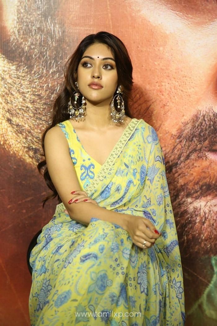 Telugu Actress Anu Emmanuel Saree Photos