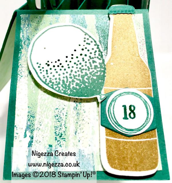 Nigezza Creates InspireINK Blog Hop: Exploding 18th Birthday Card