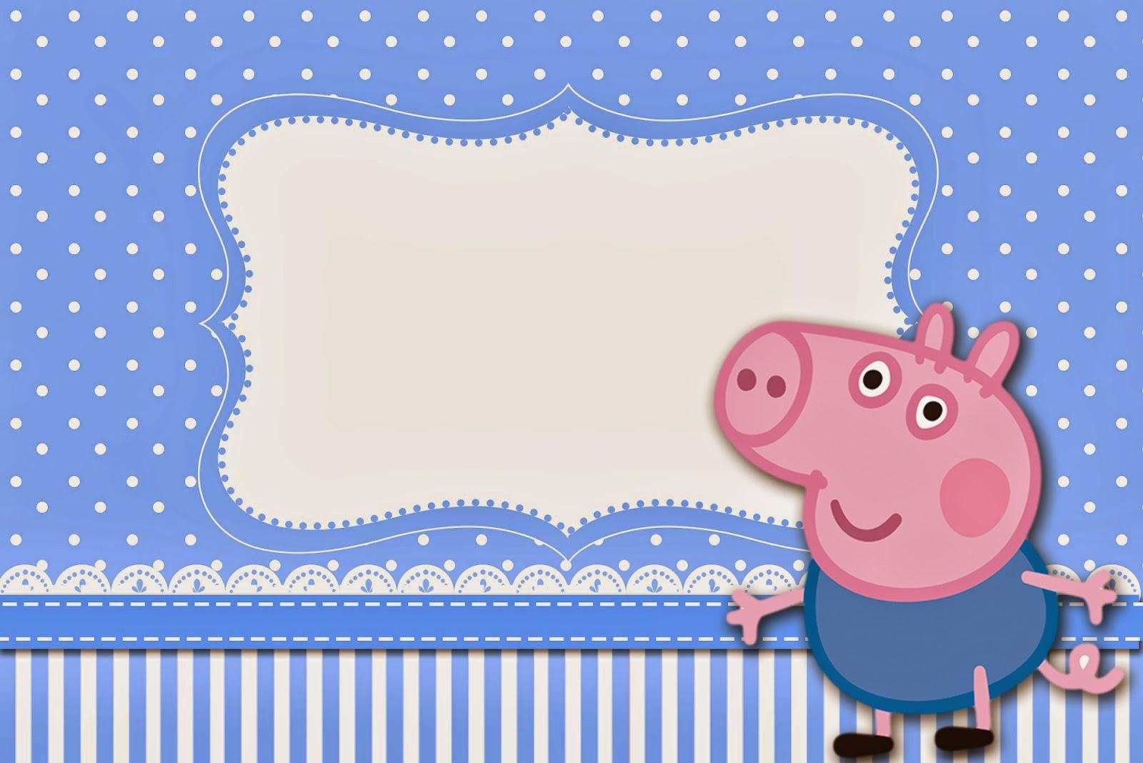 George Pig Invitaciones Para Imprimir Gratis Ideas Y