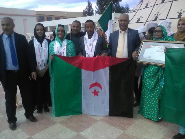 وفد من إتحاد عمال التعليم و التربية و التكوين الصحروايين يشارك في إحتفالية الفاتح نوفمبر بولاية النعامة الجزائرية