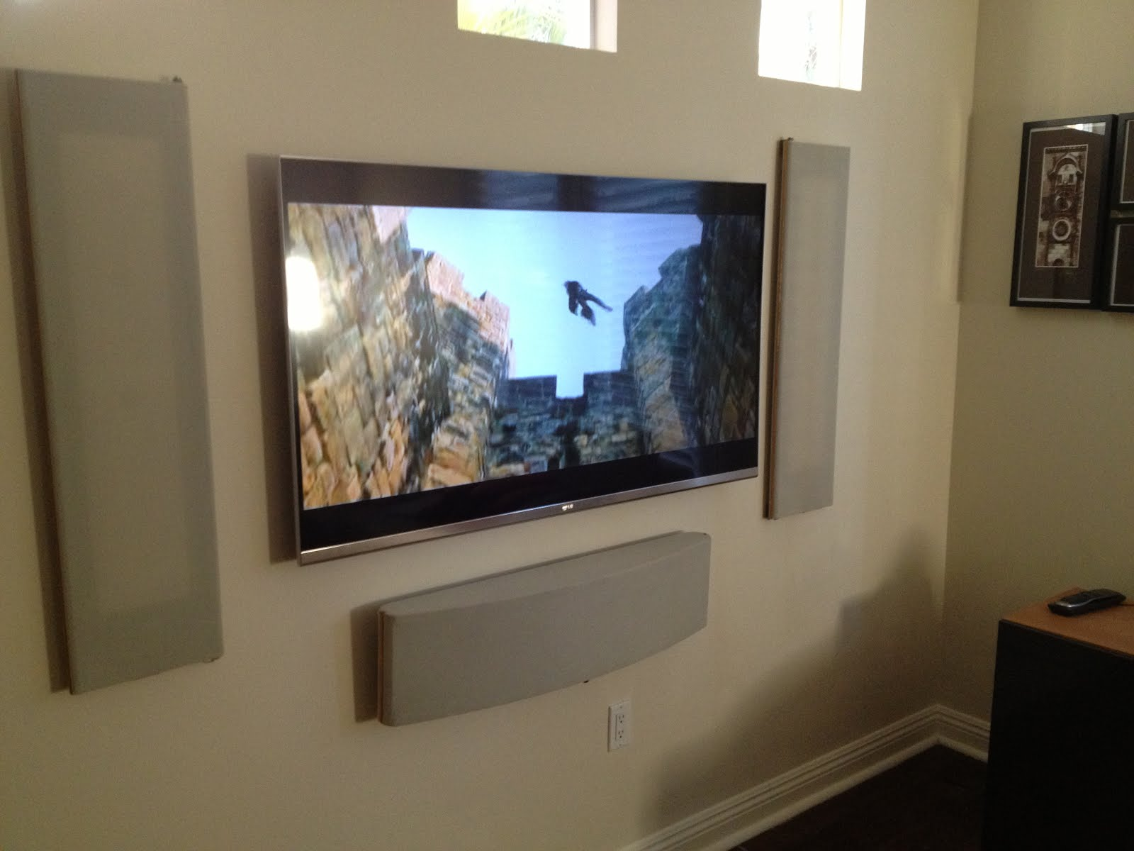 Modtech designs tv mounting for Small wall mounted tv for kitchen
