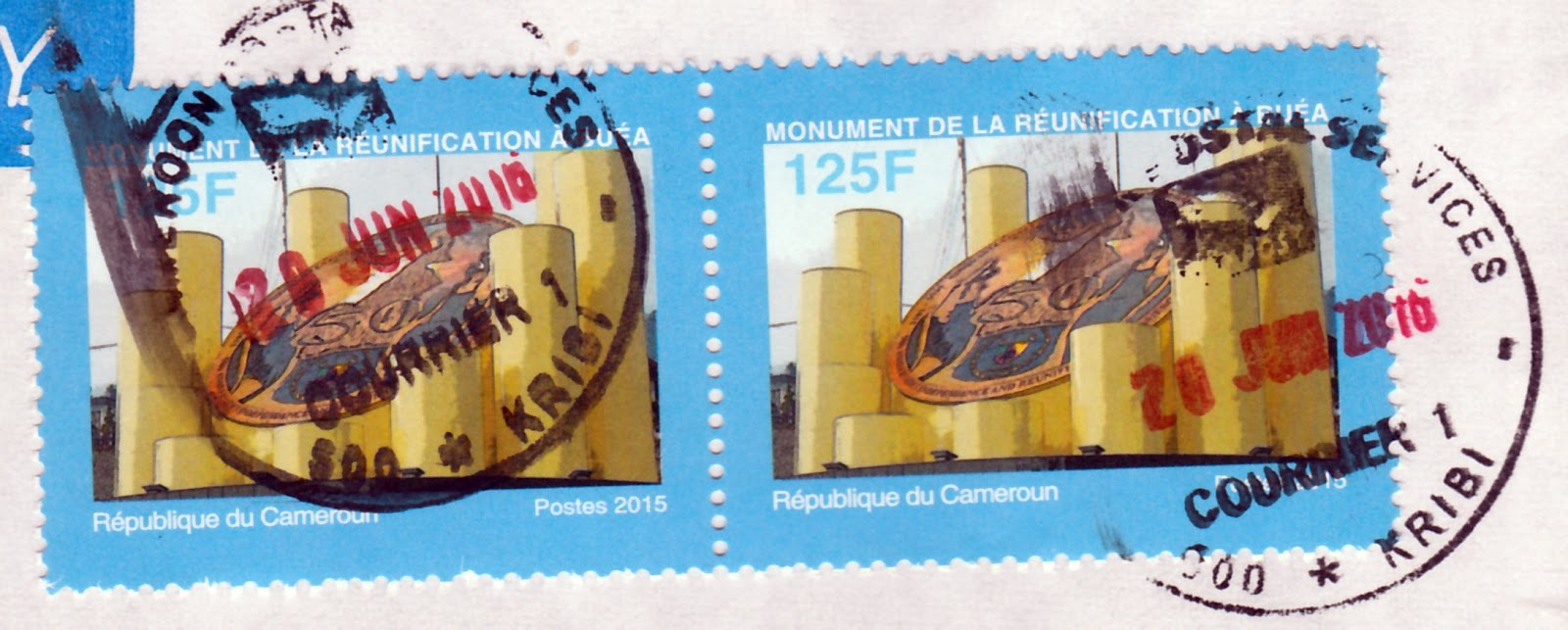 covers and stamps of the world ma premi re lettre du cameroun my first cover from cameroon. Black Bedroom Furniture Sets. Home Design Ideas