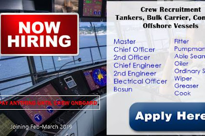 Crew Recruitment For Tankers, Bulk Carrier, Container, Offshore Vessels