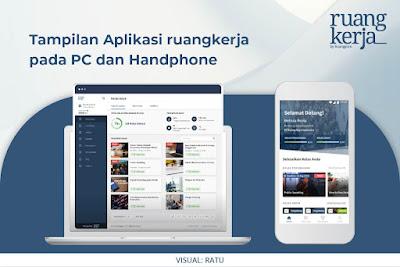 Tampilan ruangkerja pada PC dan Handphone