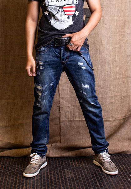quần jean nam rách bị bai dão hoặc co chật?
