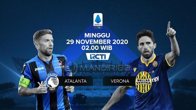 Prediksi Atalanta Vs Hellas Verona, Minggu 29 November 2020 Pukul 02.45 WIB @ RCTI