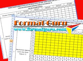 Download Pemetaan KD Kelas 4 Semester 1 Semester 2 Gratis