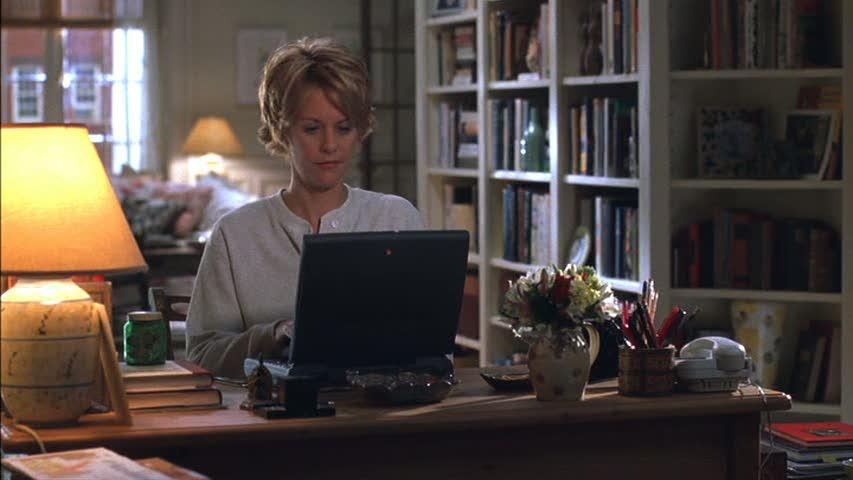 image result for movie still Meg Ryan Kathleen Kelly brownstone you've got mail