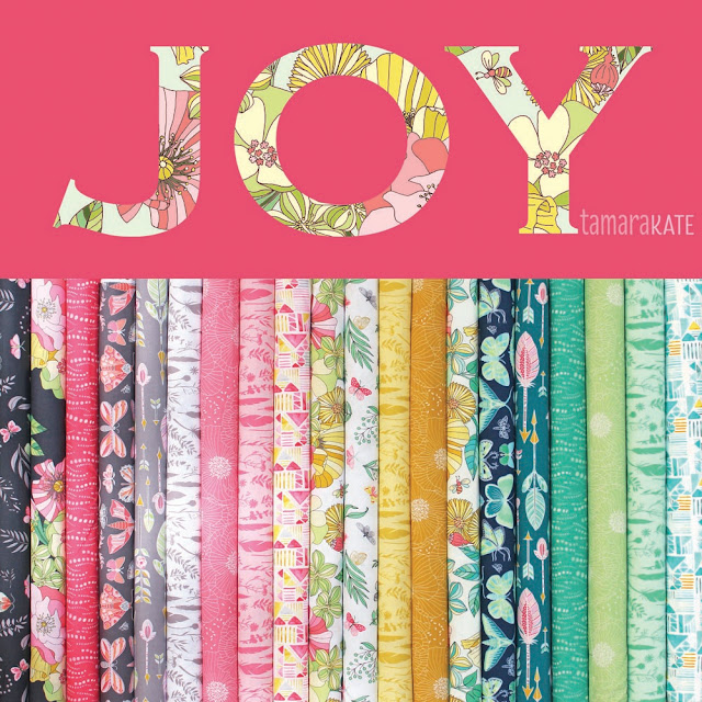 JOY Fabric collection by Tamara Kate Design for Michael Miller Fabrics   use by Shannon Fraser Designs in her Reverberance Quilt