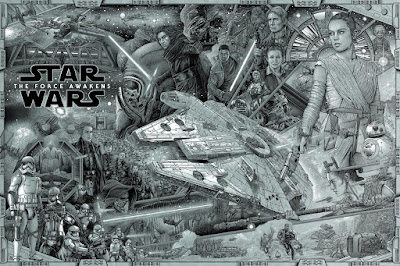 New York Comic Con 2016 Exclusive Star Wars: The Force Awakens Key Art Pewter Variant Screen Print by Ise Ananphada x Bottleneck Gallery