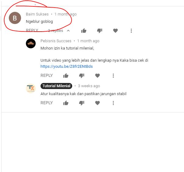komentar negatif di Youtube