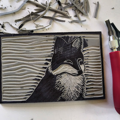 carving lino block relief printmaking tools