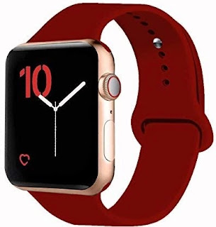 5. VATI Sport Band Compatible for Apple Watch Band 38mm 40mm 42mm 44mm, Soft Silicone Sport Strap Replacement Bands Compatible with 2019