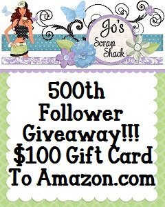 Jo's Scrap Shack 500 Follower Giveaway