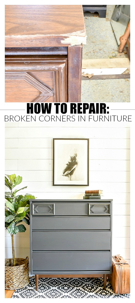 How to repair damaged corners on furniture