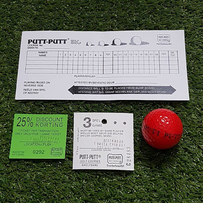 Ephemera from the Putt-Putt course at Moullie Point in South Africa
