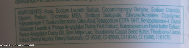gel palmolive chocolate ingredientes
