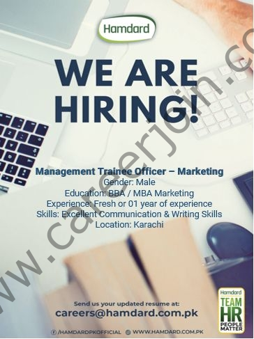 Hamdard Pakistan Jobs Management Trainee Officer Marketing