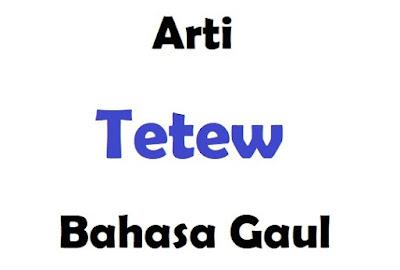 Apa Arti Tetew Dalam Bahasa Gaul