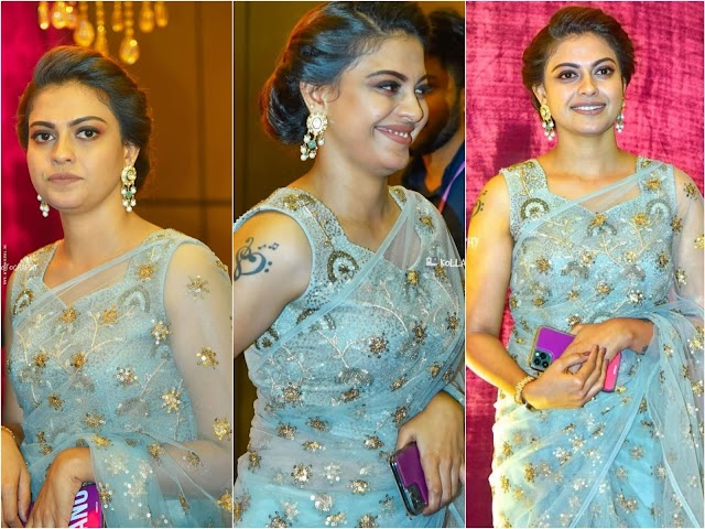 Anusree Nair Hot Photos In Sleeveless Saree