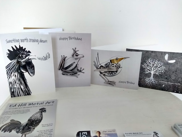 Ed Hill Metal Art - greetings cards