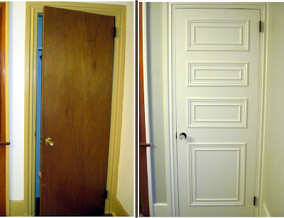 How to make your hollow core doors look expensive when you're on a