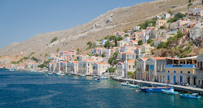 Leaving the harbour of Symi Greece