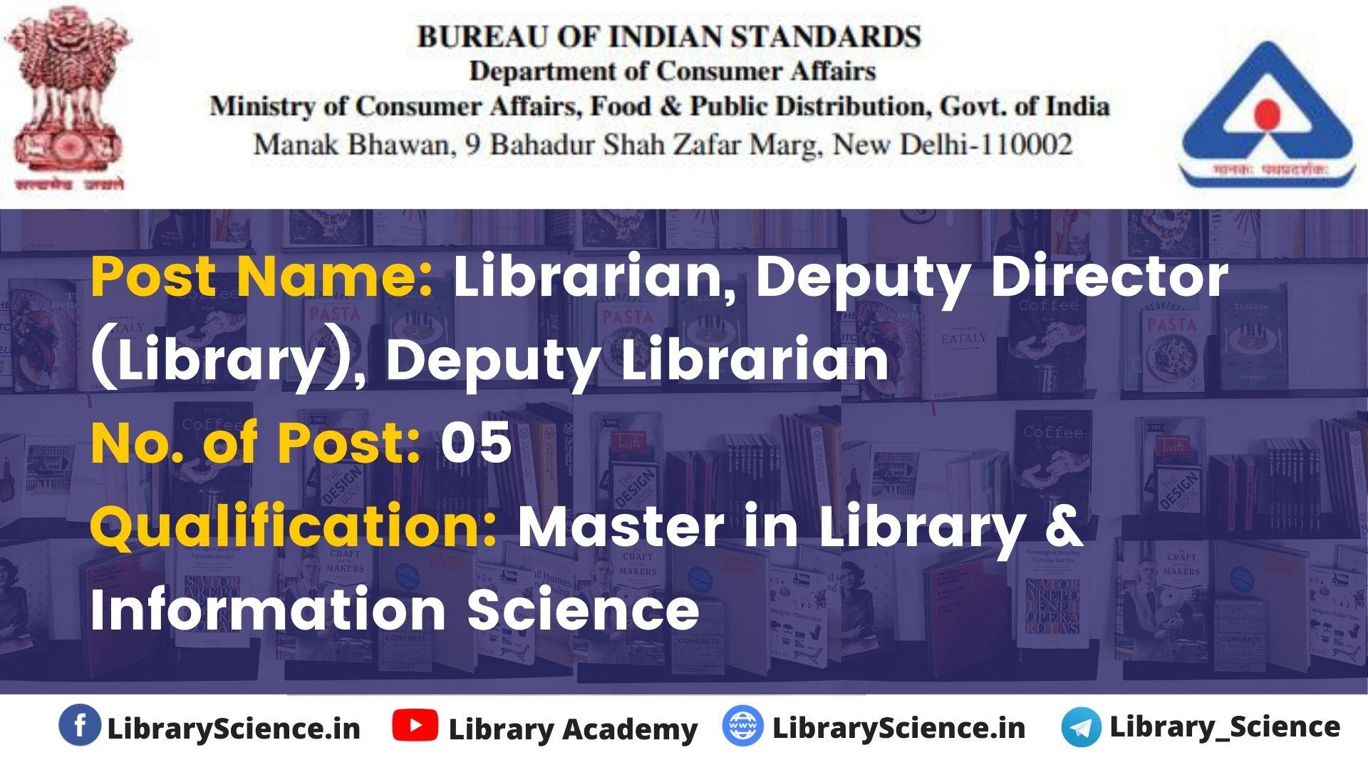 BIS Librarian Vacancy 2020