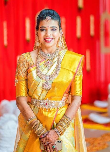 Bride in Closed Setting Diamond Set Vaddanam